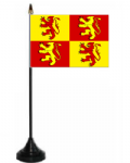 Owain Glyndwr Desk / Table Flag with plastic stand and base.